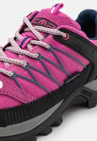 CMP - RIGEL LOW TREKKING SHOE WP - Hiking shoes - malva/blue - 5