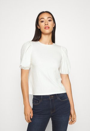 PUFF SLEEVE - Print T-shirt - off white