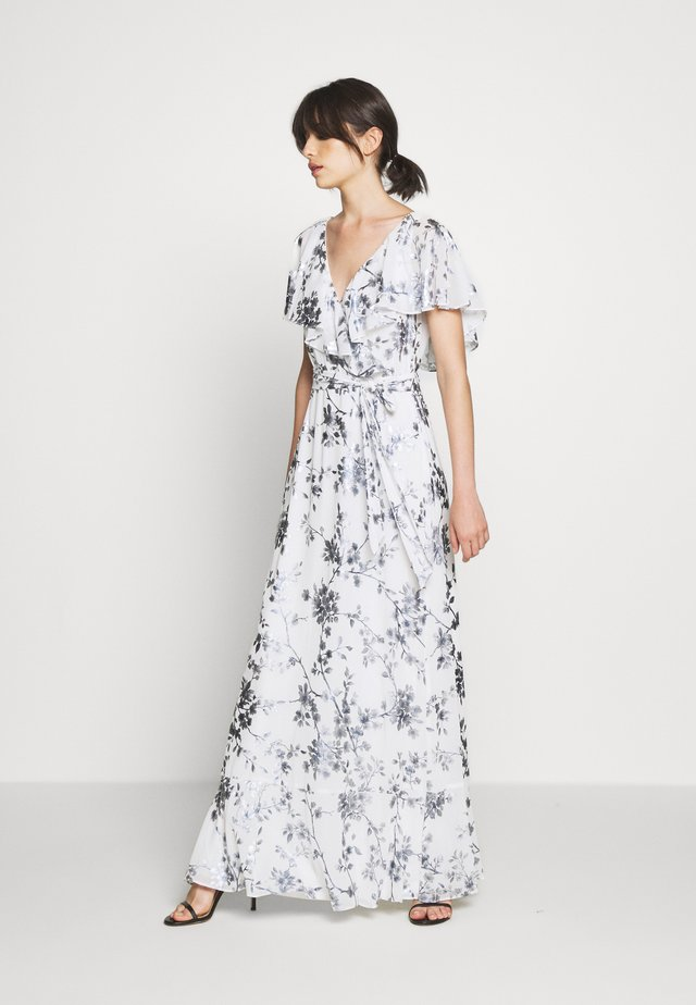 FOIL LONG GOWN - Occasion wear - white/silver-coloured