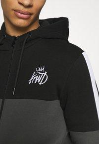 Kings Will Dream - FARNELL ZIP THROUGH HOOD - Zip-up sweatshirt - asphalt/jet black - 5