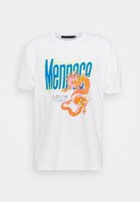 Mennace - HAVANA FLAMING DRAGON - Print T-shirt - off white - 4