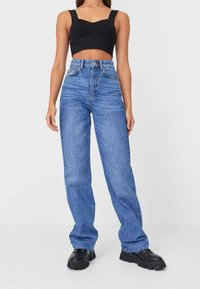 Stradivarius - Jeansy Straight Leg - blue denim - 0