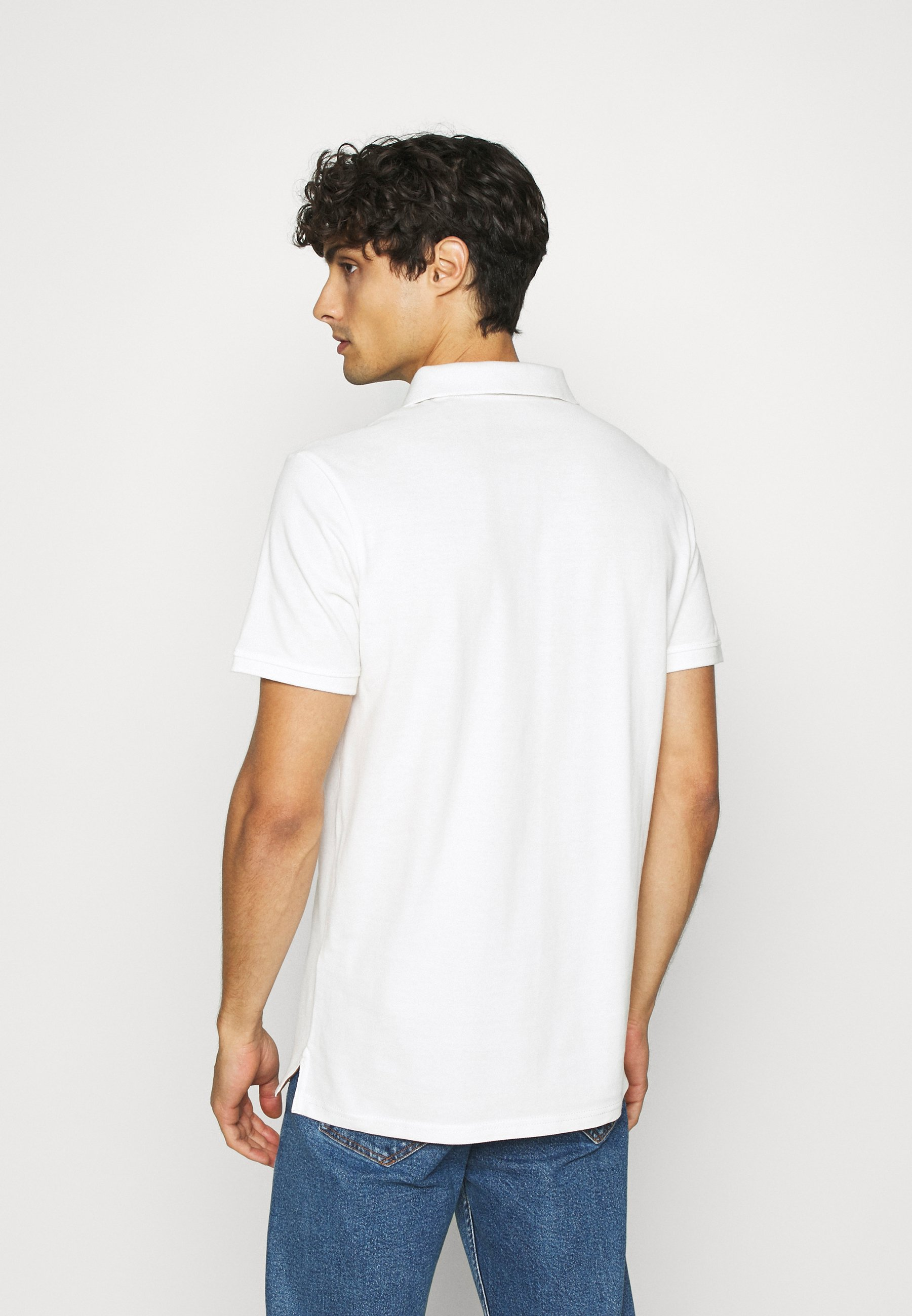 TOM TAILOR BASIC WITH CONTRAST - Polo shirt - off white QtOzx