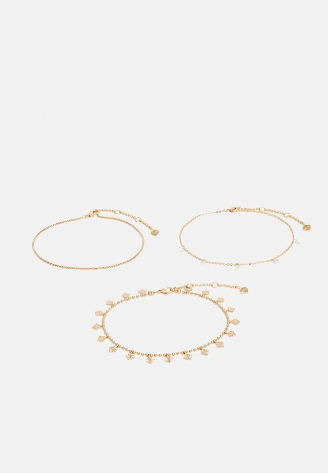 SUSAE 3 PACK - Bracelet - gold-coloured/clear