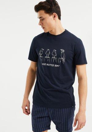 MET OPDRUK - T-Shirt print - dark blue