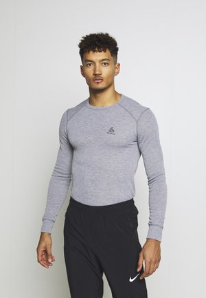 CREW NECK WARM - Undershirt - grey melange