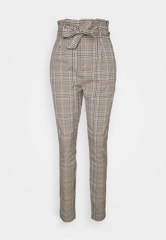 VMEVA PAPERBAG PANT - Pantalon classique - tobacco brown/multi
