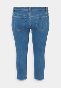 MY TRUE ME TOM TAILOR - FRAYED HEM - Slim fit jeans - clean mid stone blue denim - 1