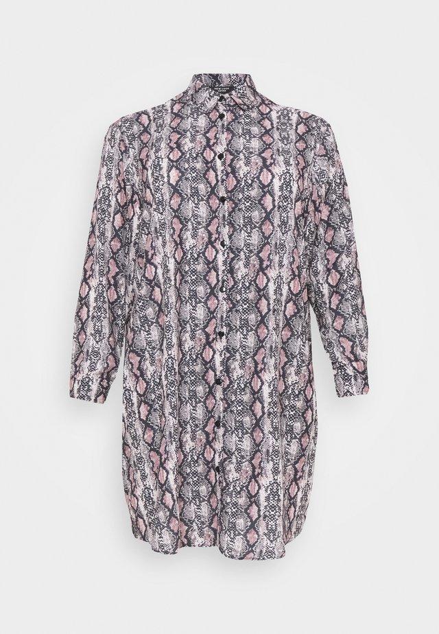 CHAIN PRINT SHIRT DRESS - Skjortklänning - brown pattern