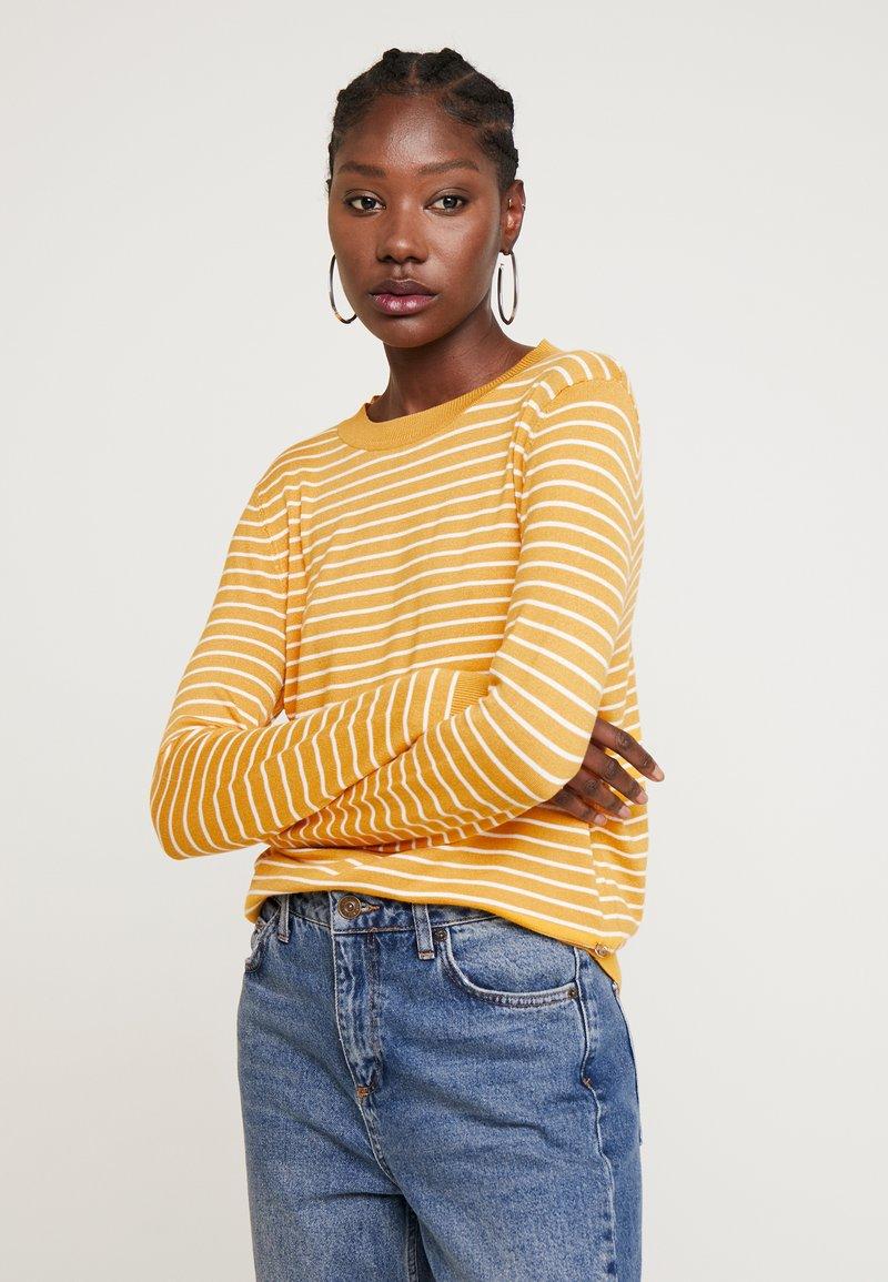 TOM TAILOR DENIM - EASY STRIPE - Sweter - yellow