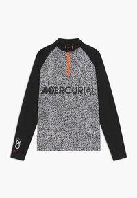 Nike Performance - CR7 DRY DRIL - Fleece jumper - black/white - 0