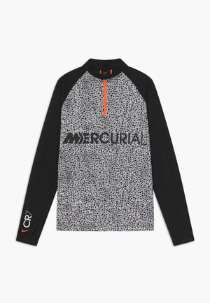 CR7 DRY DRIL - Fleece jumper - black/white