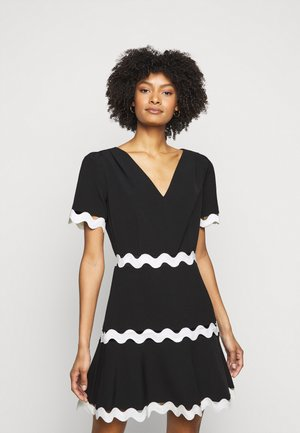 JOSEPHINE CADY TRIM DRESS - Day dress - black