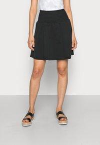 Moss Copenhagen - LANA SKIRT - Mini skirt - black - 0