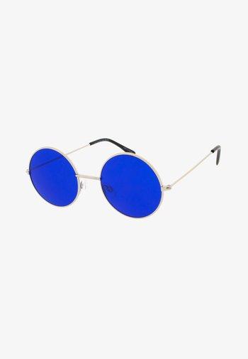 MAVERICK - Sunglasses - silver/blue