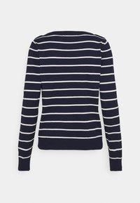 Vero Moda - VMALMA BOATNECK - Jumper - navy blazer/snow white/gold - 1