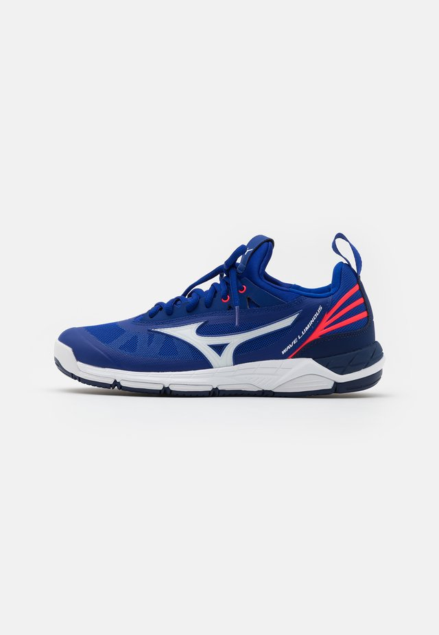 WAVE LUMINOUS - Chaussures de volley - blue/white/pink