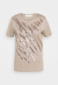 Cream - LEEVA - Print T-shirt - taupe gray - 4