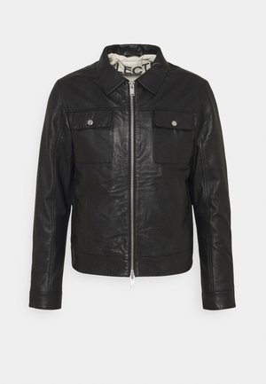 SLHICONIC BLOUSON  - Leather jacket - black