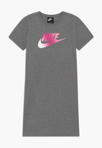 Nike Sportswear - DRESS FUTURA - Vestito di maglina - carbon heather/pink - 0