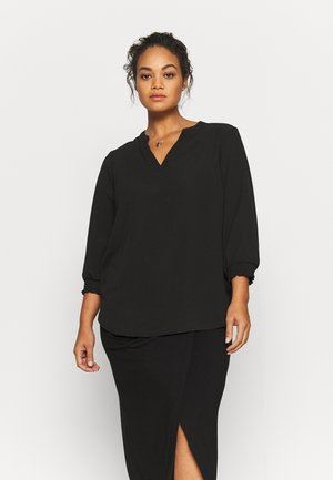 CARLUXCILLE 3/4 SOLID - Blouse - black