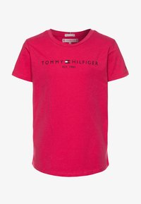 Tommy Hilfiger - ESSENTIAL TEE  - T-shirt print - pink - 0