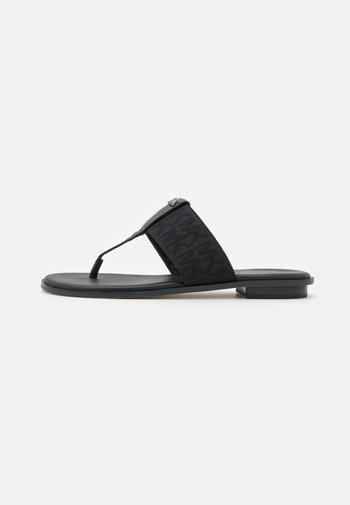 VERITY THONG - T-bar sandals - black