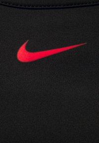 Nike Performance - STRIPE CROP TANK - Top - black/chile red - 2