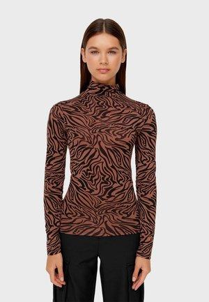 ROLLKRAGEN  - Top sdlouhým rukávem - dark brown