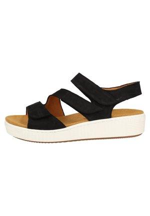 SANDALEN - Wedge sandals - nightblue 16