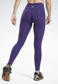 Reebok - LUX LEGGINGS - Leggings - purple - 2
