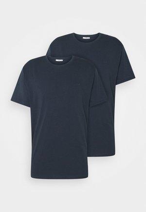 2 PACK - Basic T-shirt - navy