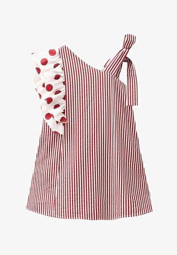 Korte jurk - dark red