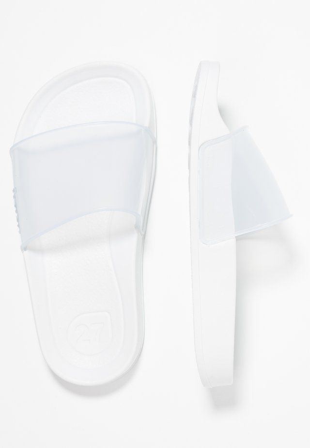 BEACH CRISTAL - Pool slides - white