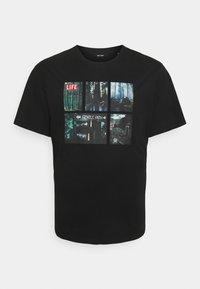 Only & Sons - ONSLIFEMAGAZINE TEE - Print T-shirt - black - 0