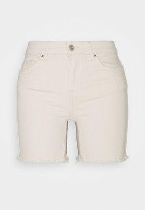 ONLBLUSH MID - Denim shorts - ecru