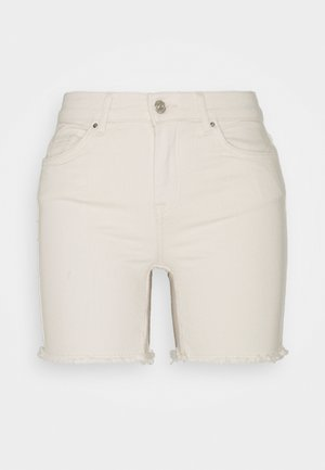 ONLBLUSH MID - Shorts di jeans - ecru