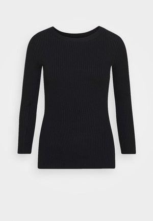 BASIC- rib 3/4 sleeve jumper - Svetr - black