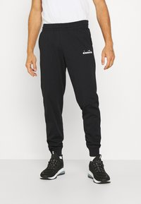 Diadora - PANT CUFF LIGHT CORE - Tracksuit bottoms - black - 0