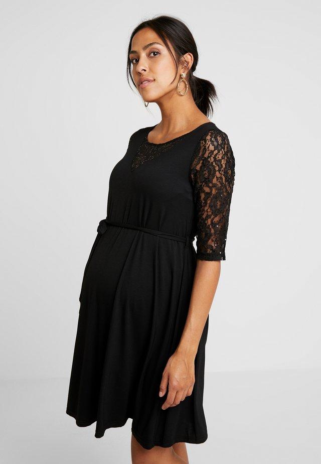 PANEL DRESS - Jerseyjurk - black