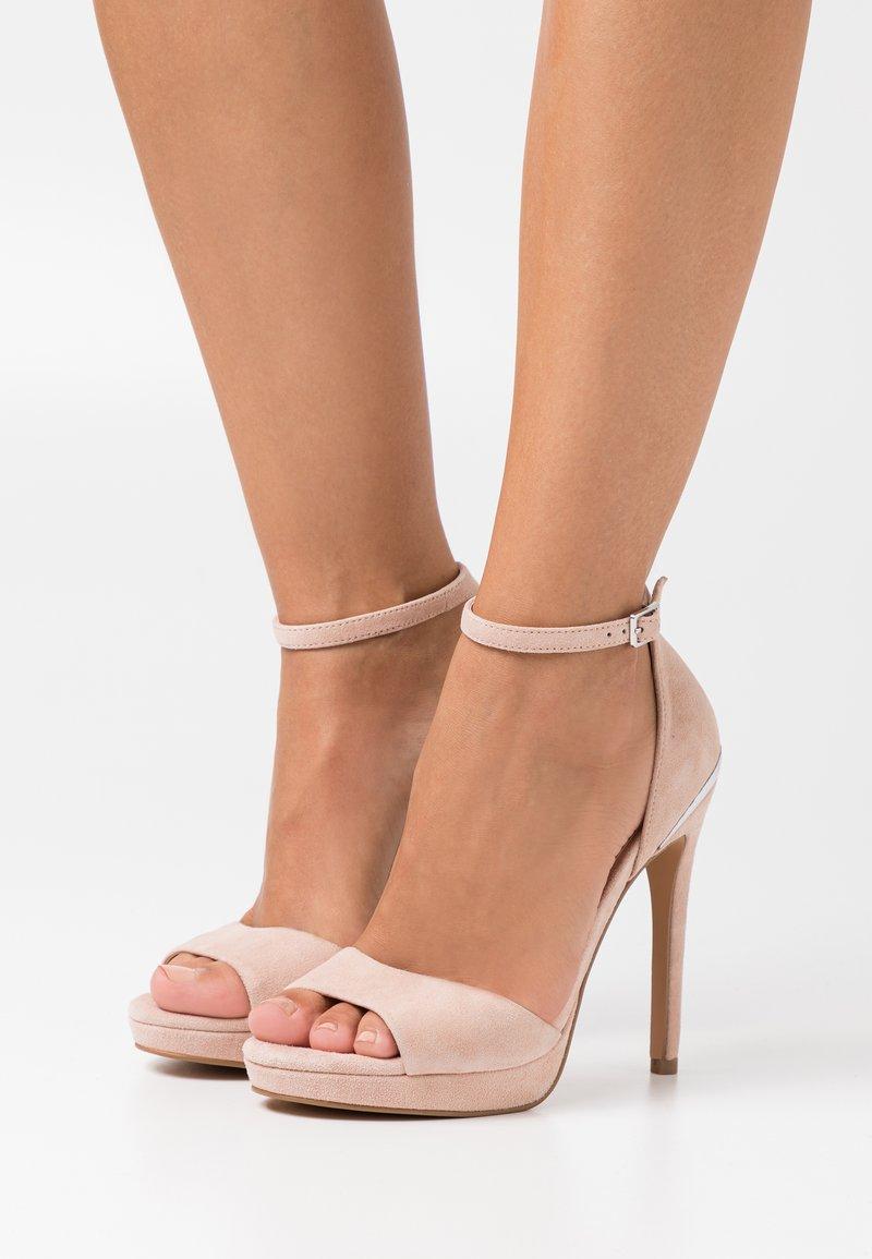 Even&Odd - LEATHER - High heeled sandals - beige
