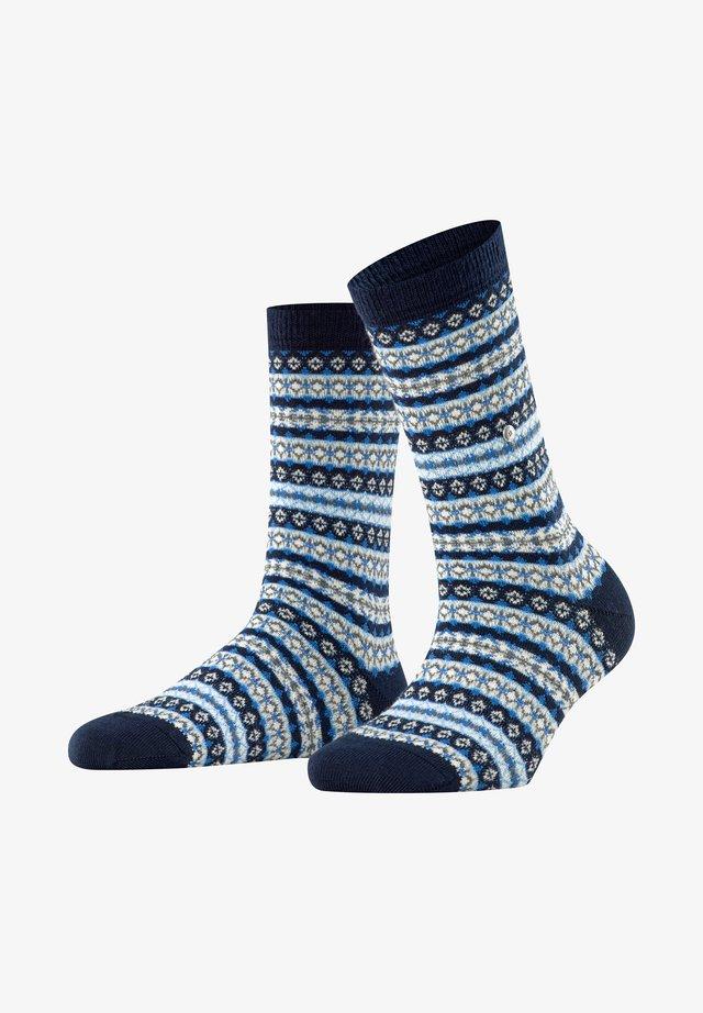 COUNTRY FAIR ISLE - Socks - marine