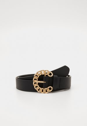 AMANDA BELT - Pásek - black/gold-coloured