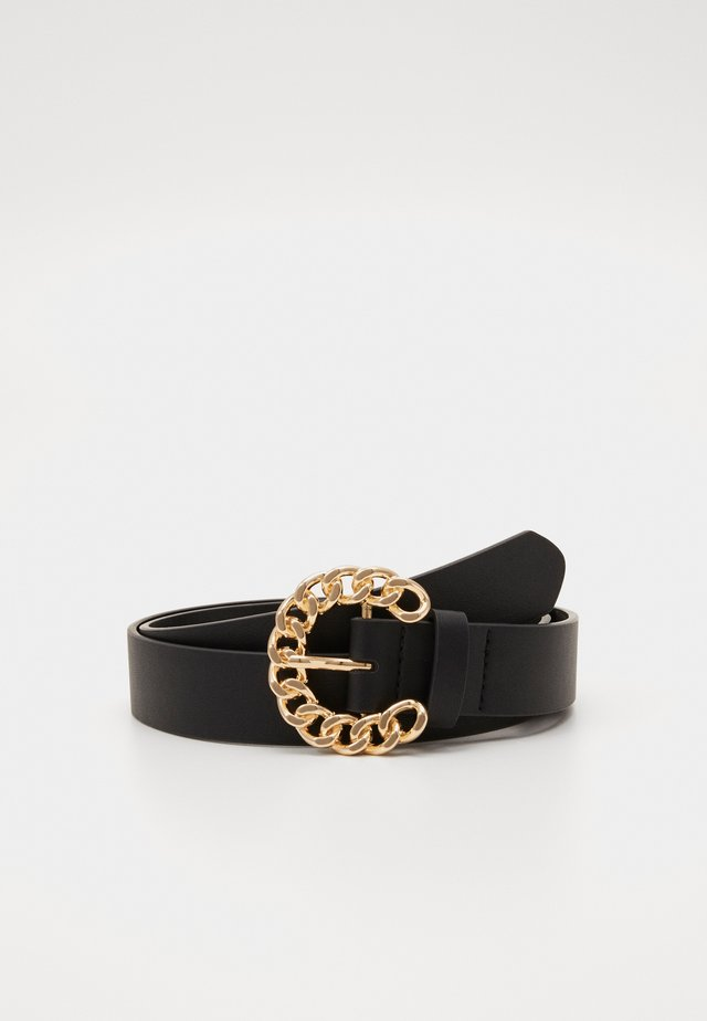 AMANDA BELT - Riem - black/gold-coloured