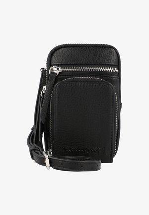 EMBOSSED HALF DAFNE  - Across body bag - black