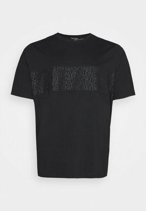 LOGO LINES - T-shirt con stampa - black