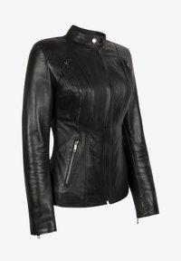 LEATHER HYPE - ARYAN - Leather jacket - black - 7