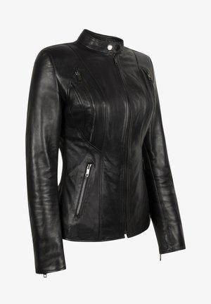 ARYAN - Leather jacket - black