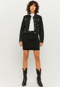 TALLY WEiJL - Denim skirt - black denim - 1