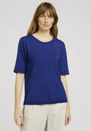 T-shirt print - anemone blue